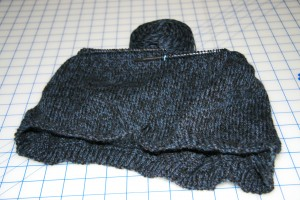 7.5 inches knitted