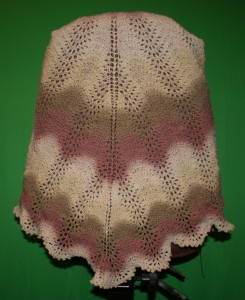Shoalwater Shawl made in Kauni yarn