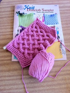 Dishcloth made from Sugar and Cream Yarn by Lily Yarn